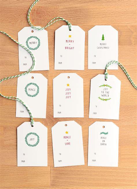 Simple Printable Christmas Gift Tags | free printable christmas gift tags part 1 paper crush