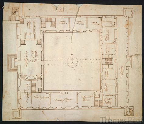 blue print of house plan of the interior of syon house