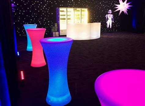 illuminated bar top illuminated round bar table feel good events melbourne