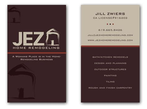best remodeling business card studio design gallery