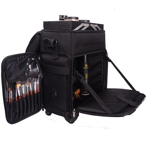 Tas Box 02 2016 new type large professional portable canvas trolley caster makeup nail bag
