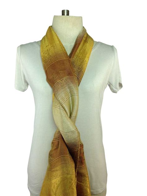 gold pattern scarf gold scarf silk order online direct from thailand