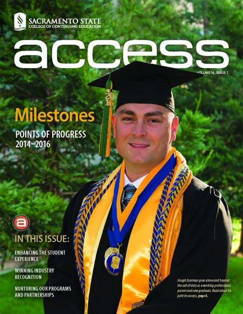 Details Sac State Mba For Executives Program by Access Volume 16 Issue 1 College Of Continuing