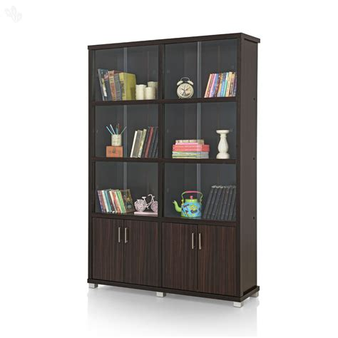 buy royal oak bookshelf sliding doors with