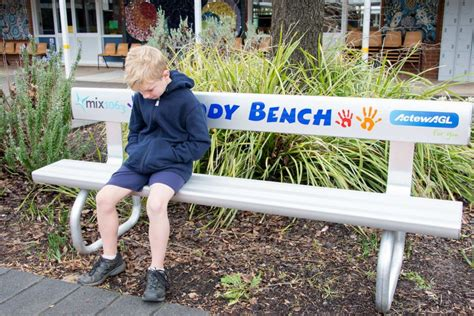 buddy bench at school buddy bench scully outdoor designs australia soapp culture