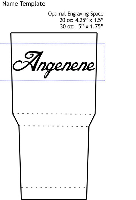 templates to customize your 20 oz or 30 oz tumbler