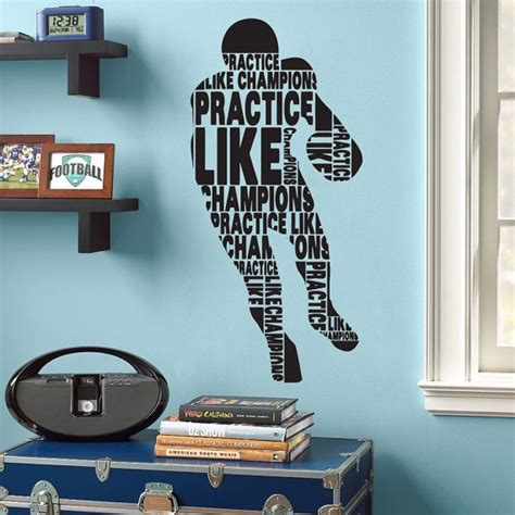 football bedroom wall stickers 17 best images about american football wall stickers