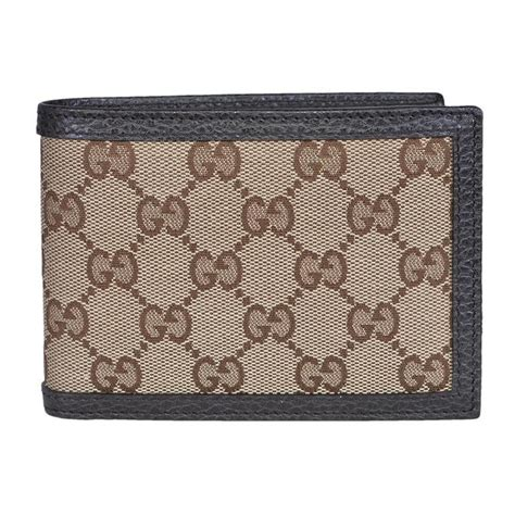 Gucci Card Holder Gg Brown Original Gucci Card gucci brown gg canvas leather s bifold 260987 wallet