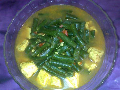 kumpulan resep masakan praktis resep kacang panjang masak