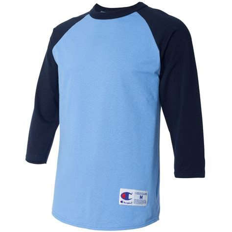 light blue baseball shirt chion t137 raglan baseball t shirt light blue navy