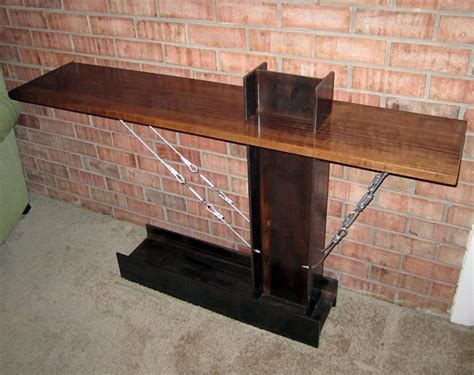 I Beam Table by Curly Walnut And I Beam Entry Table By Donaldmee