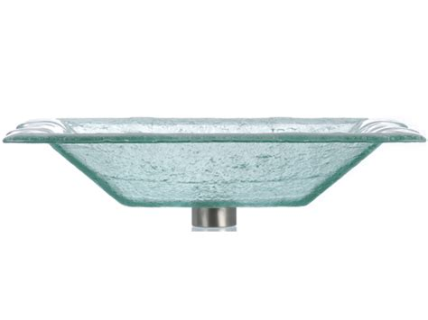 rectangular clear glass vessel sinks rg rectangular glass vessel clear rgw las07 clear