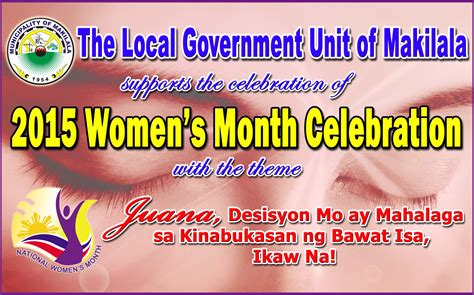 womens month theme 2015 makilala jumpstarts national women s month celebration