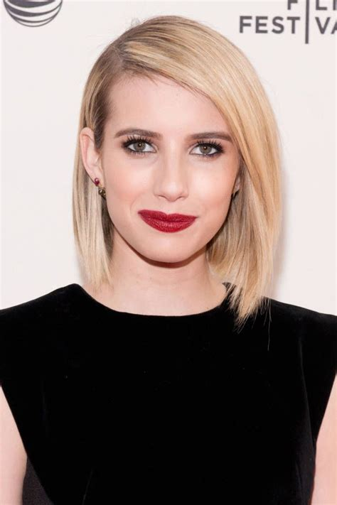 celebrity blonde bobs that will fulfill your hairinspo 25 best emma roberts makeup ideas on pinterest