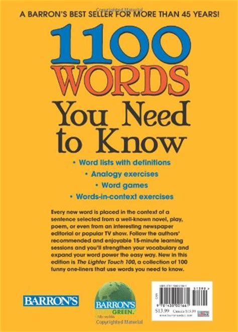 Barron S 1100 Words You Need To 1100 words you need to buy in uae paperback products in the uae see prices