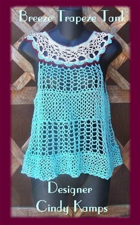 pattern crochet tank top breeze trapeze tank top crochet pattern