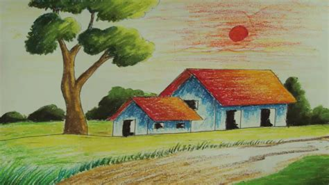 exterior 4 cool simple paintings creations using your own pastel painting how to draw a simple landscape episode