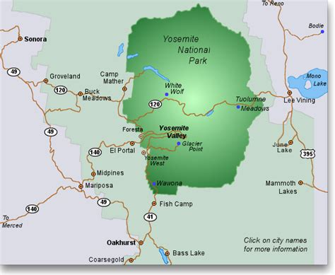 map of yosemite area yosemite lodging a mostly complete guide