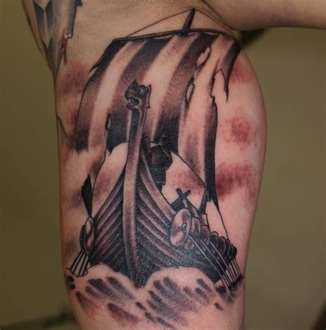 viking ship tattoo 30 gorgeous viking tattoos designs ideas