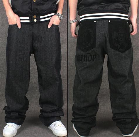 pattern baggy jeans 2018 wholesale hip hop baggy jeans flocking crown letter