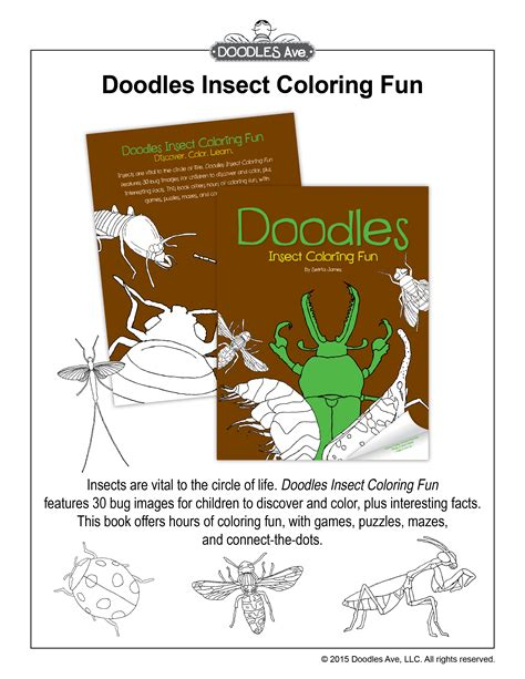 doodles ave doodles ave coloring books for children educational