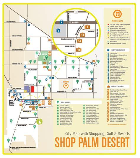 map of palm desert california palm desert shopping map palm desert ca mappery