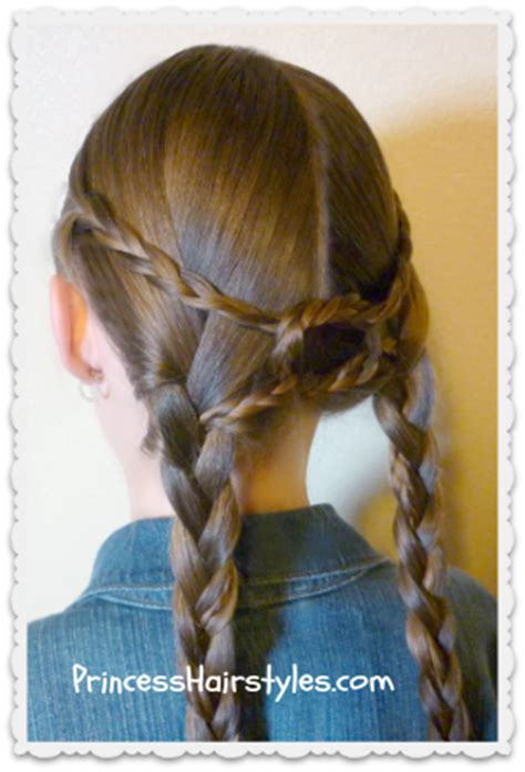 cute girl hairstyles knotted braid equestrian braids double braid knotted hairstyle