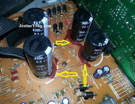 how to check capacitor leakage capacitor leak on the board electronics repair and technology news
