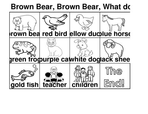 7 Best Images Of Retelling Brown Bear Printable Brown What Do You See Coloring Pages