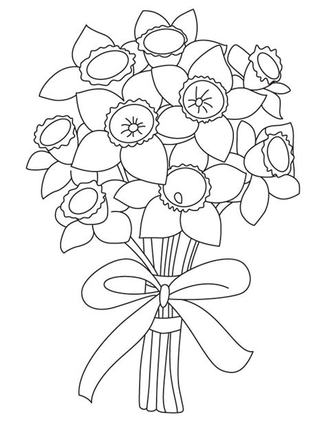 narcissus flower coloring page narcissus flower coloring page free coloring pages of