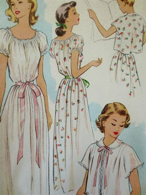 vintage nightdress pattern vintage mccalls 8670 sewing pattern 1950s nightgown