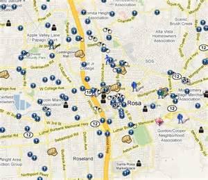 map of santa rosa california spotcrime is now mapping crime in santa rosa california