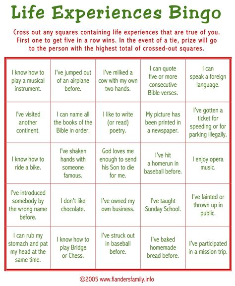 adult christmas icebreakers breaker bingo free printable flanders family homelife