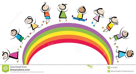 rainbow children the art rainbow clipart for kids clipart panda free clipart images