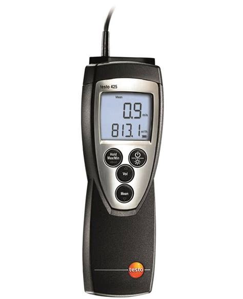 testo hoy testo 425 wire anemometer velocity air flow co