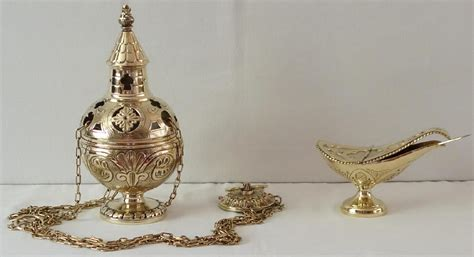 thurible and boat brass thurible and incense boat 6436
