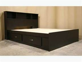 King Size Bed Frame With Headboard New Espresso Brown King Size Captains Bed Frame Headboard Richmond Vancouver