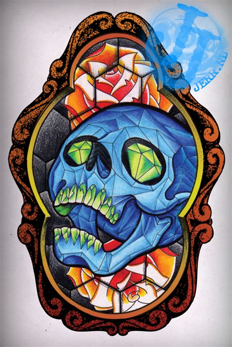 stain glass tattoo stained glass design by jerrrroen on deviantart