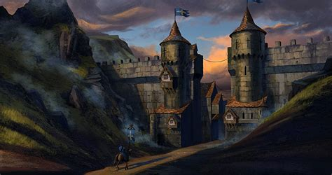 medieval buildings  towns  concept art inspiration