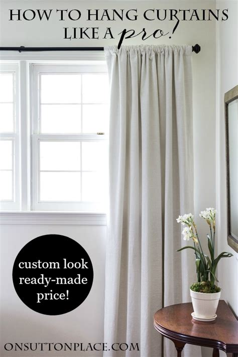 how do i hang curtains how to hang curtains like a pro on sutton place