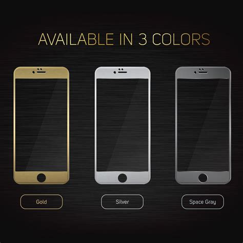 iphone   screenmate max tempered glass gold iloome