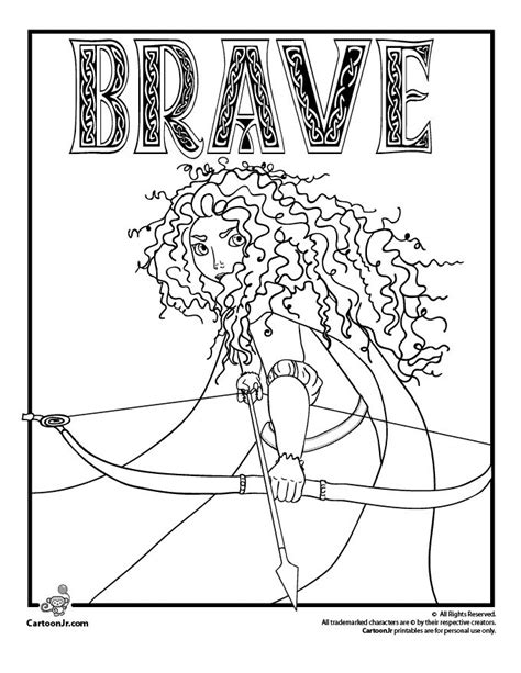 disney pixar s brave coloring pages coloring pages
