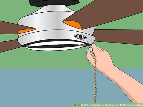 ceiling fan chain how to replace a ceiling fan pull chain switch with pictures