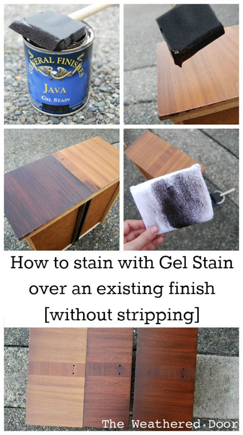 How To Stain With Gel Stain Over An Existing Finish
