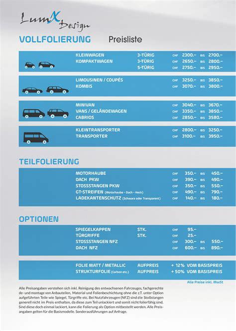Autofolierung Schweiz preisliste folierung lumx autoscheibent 246 nen