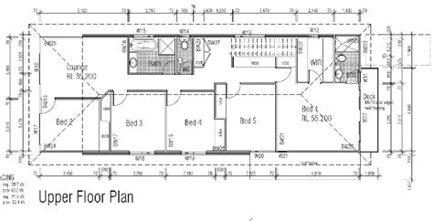 narrow block floor plans narrow block plan and kit home home plans floor plans