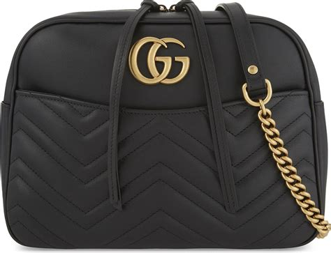 New Gucci Gg Marmont Quilted Original Leather Bag lyst gucci gg marmont medium quilted leather shoulder