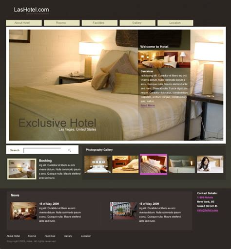 templates for hotel website 5439 travel hotel website templates dreamtemplate