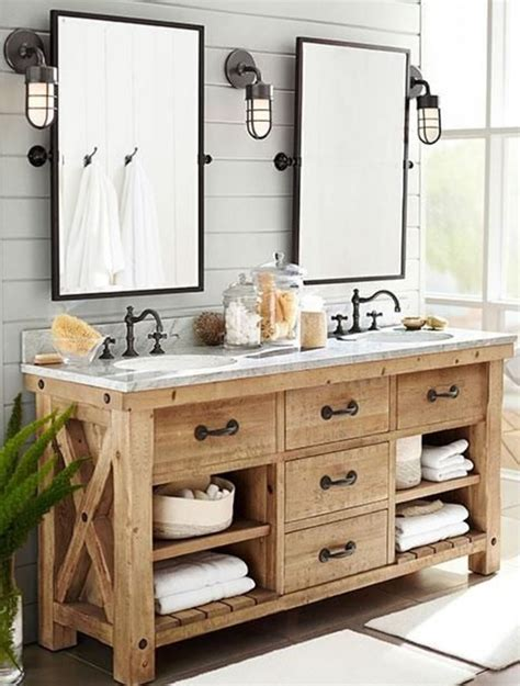 33 Stunning Rustic Bathroom Vanity Ideas Remodeling Expense Cabin Bathroom Vanity