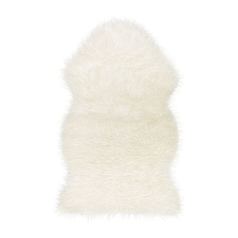 white skin rug with tejn faux sheepskin ikea